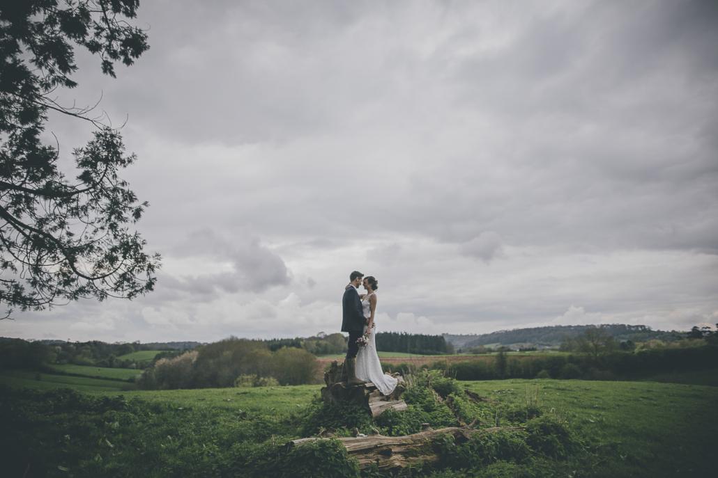 Couple on Tree stump
