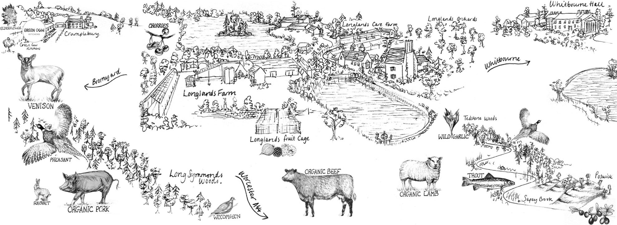 Crumplebury Farm map
